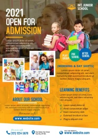 School Admission Open A4 template