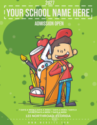 school admission open FLYER TEMPLATE Volante (Carta US)