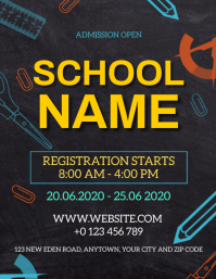SCHOOL ADMISSION OPEN FLYER TEMPLATE