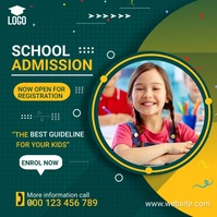 School Admission Open Post template