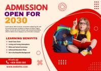 School admission postcard Poskaart template