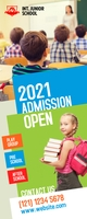 School Admission Roll-up Banner template