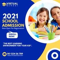 School Admission Social Media Post Template Cuadrado (1:1)