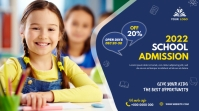 School admission twitter post template