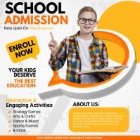 school admission video, back to school Сообщение Instagram template