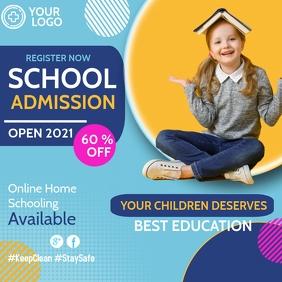School admissions open,School Instagram Post template