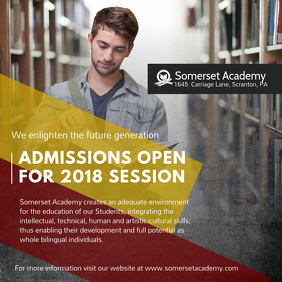 School Admissions Open 2018 Instagram Ad Template