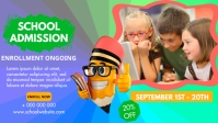School Admissions poster Facebook Cover Video (16:9) template