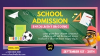 School Admissions poster Facebook-omslagvideo (16:9) template