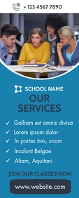 school advertisement roll up banner template