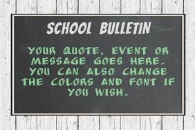 chalkboard poster template