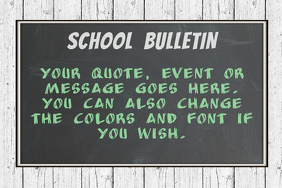 School Bulletin Chalkboard Poster Flyer Template