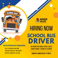 School Bus Driver for Hire Instagram Post Tem template