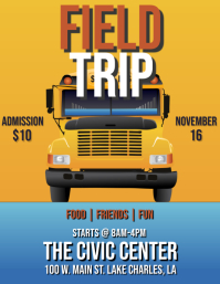 SCHOOL BUS FIELD TRIP FLYER template
