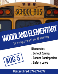 school bus meeting
