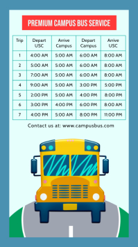School Bus Schedule Digital Display template