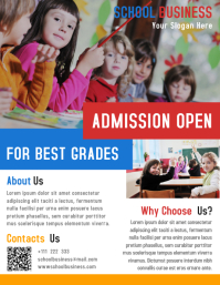 School Business Flyer Template Design