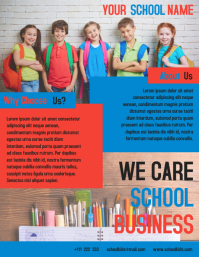 School Business Flyer Template Design