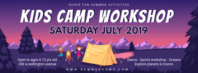 School Camp Workshop Banner Design
