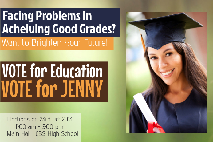 School Campaign Flyer Template  Postermywall