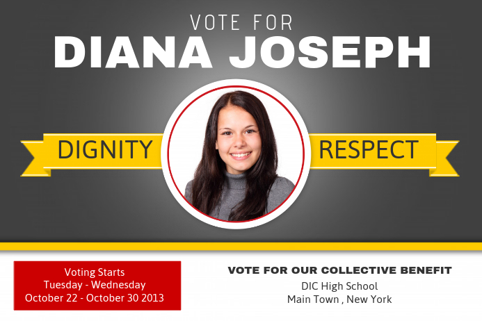 Election Flyer Templates. school campaign poster template ...