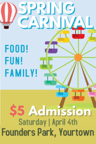School Carnival Event Poster