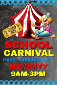 School Carnival Affiche template