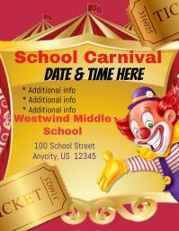 School Carnival Flyer (format US Letter) template