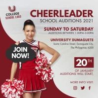 School Cheerleader Auditions Instagram Templa template