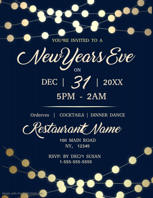 Customizable Design Templates For School Christmas Party | PosterMyWall  Christmas Party Tickets Templates