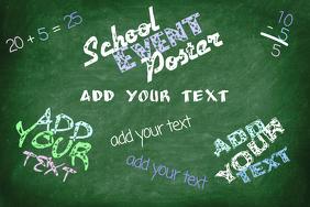 School college chalkboard poster