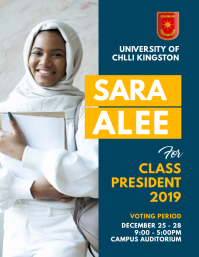 School Council Election Facebook flyer Template