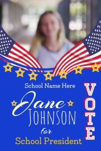 School Council President Election Poster Template