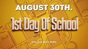 SCHOOL Ekran reklamowy (16:9) template