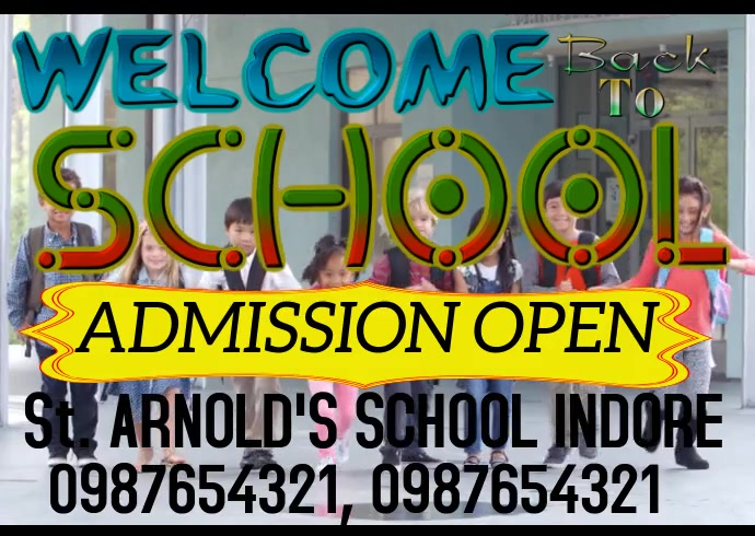 School Kartu Pos template