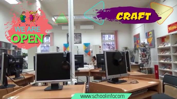 school Digital Display (16:9) template