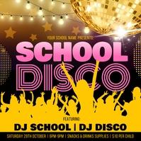 School Disco Poster template