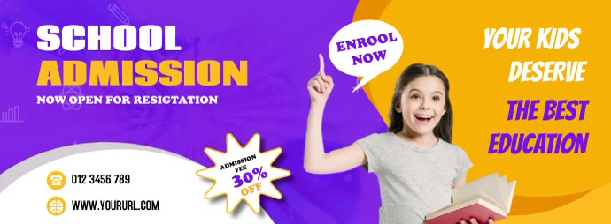 School Education Facebook Cover Template