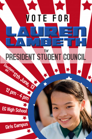 School Election Campaign Flyer Template