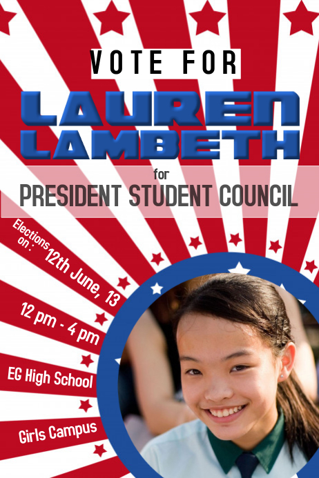 Perfect School Election Campaign Flyer Template Awesome Design