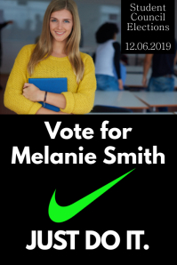 School Election Campaign Poster Template