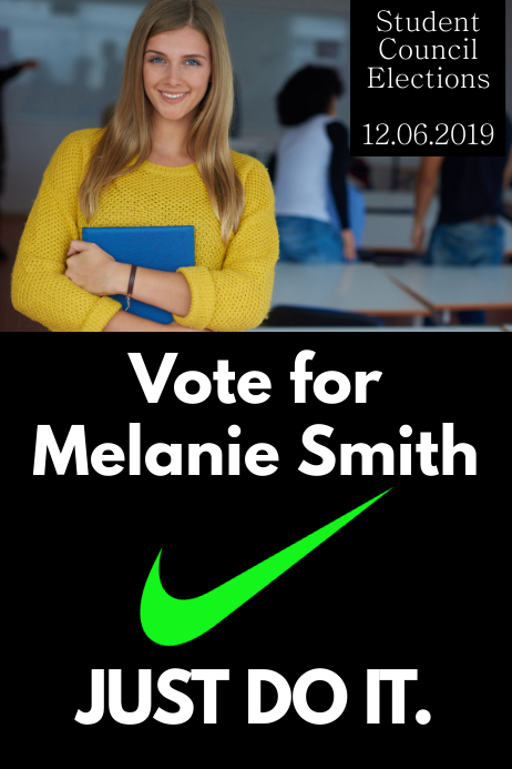 School Election Campaign Poster Template Postermywall