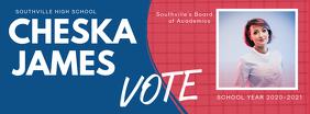 School Election Facebook Cover template