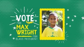 School Election Facebook Cover Video Template