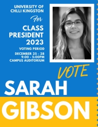 School Election poster Templates Flyer (US Letter)