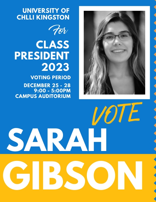 school election poster templates postermywall