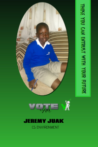 School elections campaign poster