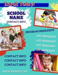 School Enrollment Flyer (Letter pang-US) template