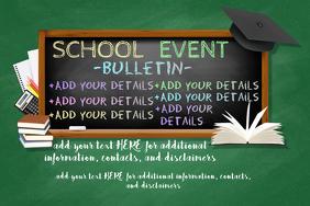 School Event Educational Children Bulletin Chalk Board Class