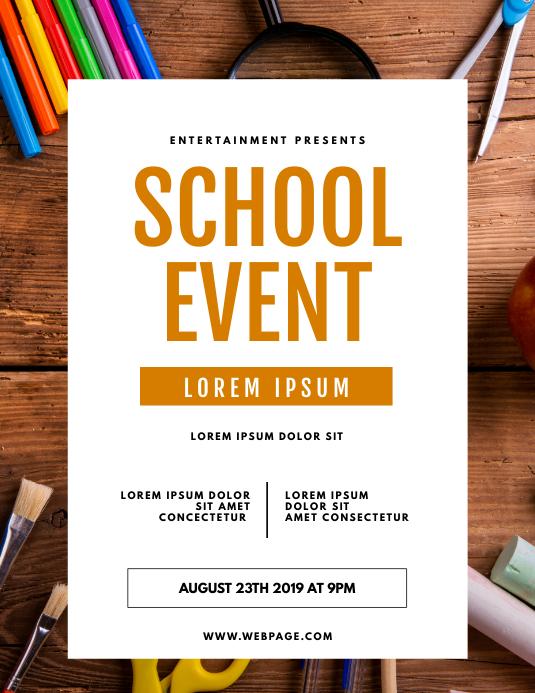 School Event Flyer TEmplate Pamflet (Letter AS)